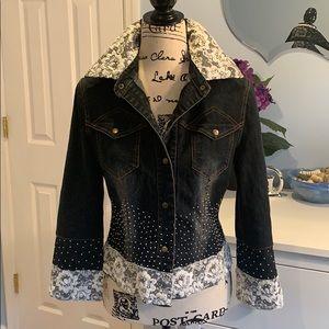 🥳 HP💃🏻 OOAK Vintage Upcycled Jean Jacket